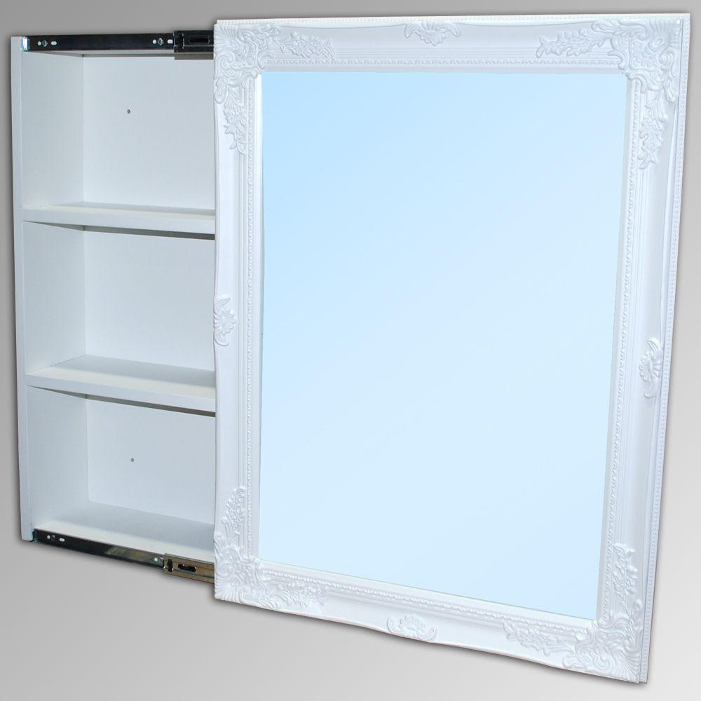 Badezimmer Spiegelschrank Xenia Weiss 3478