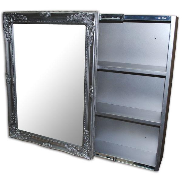 Badezimmer Spiegelschrank XENIA Silber