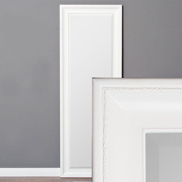 Spiegel COPIA 140x50cm Pur-Weiß Wandspiegel Barock
