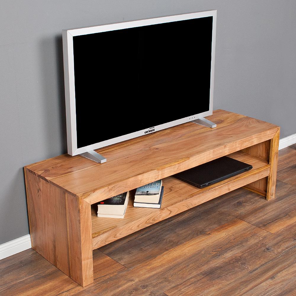 tv board couchtisch kasi stone 140cm akazie massivholz sideboard 3914. Black Bedroom Furniture Sets. Home Design Ideas
