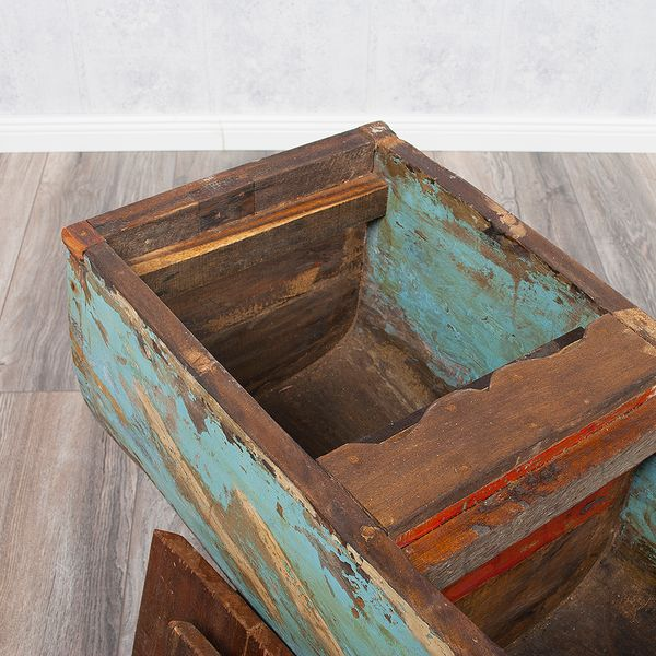 Individueller Couchtisch BOAT aus recyceltem Massivholz Natural – Bild 11