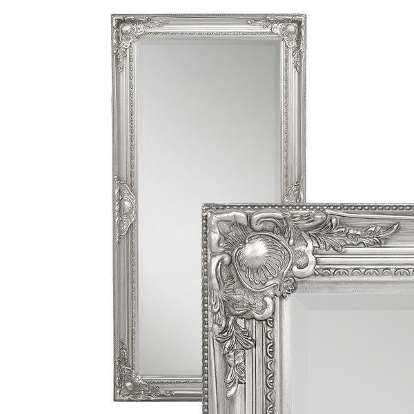 Spiegel LEANDOS barock silber-antik 100x50cm