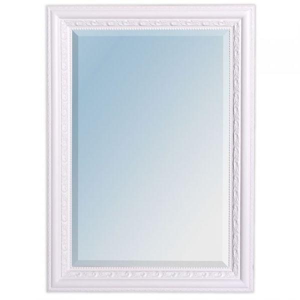 Spiegel ARGENTO barock Pur-Weiß 70x50cm