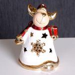Edzard WEIHNACHTSELCH mit Paket Weihnachten Deko Elch Dekoration 001
