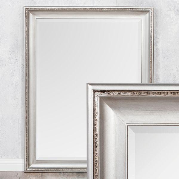 Spiegel COPIA 50x40cm Silber-Antik Wandspiegel Barock