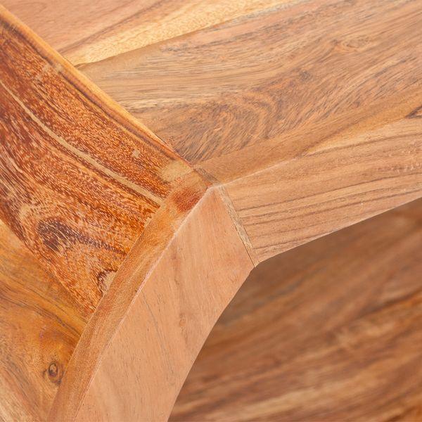 Couchtisch MOHIT Natural-Brown-M 90x60cm Akazie – Bild 5