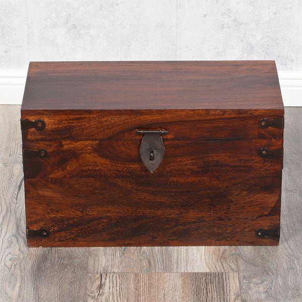 Massivholz Truhe TARUN Dark-Brown-N 42cm Akazie – Bild 6