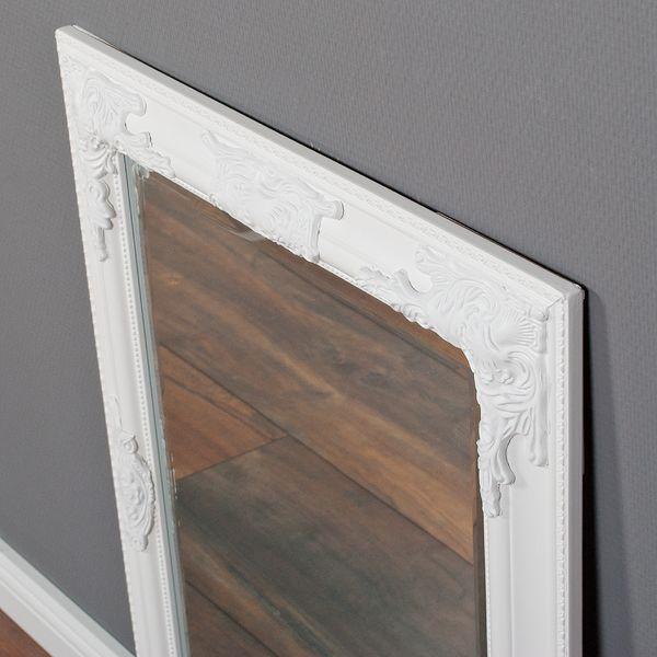 Spiegel BESSA barock pur weiß 70x50cm  – Bild 7