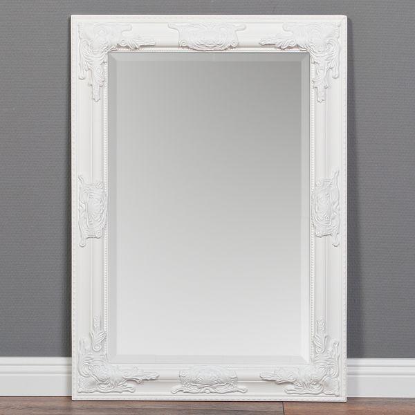 Spiegel BESSA barock pur weiß 70x50cm  – Bild 1