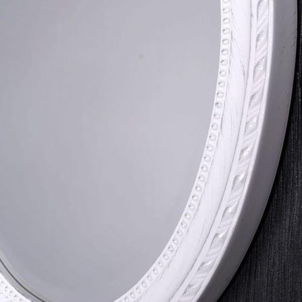 Spiegel LEILA weiß-silber 37x47cm oval Barock – Bild 6