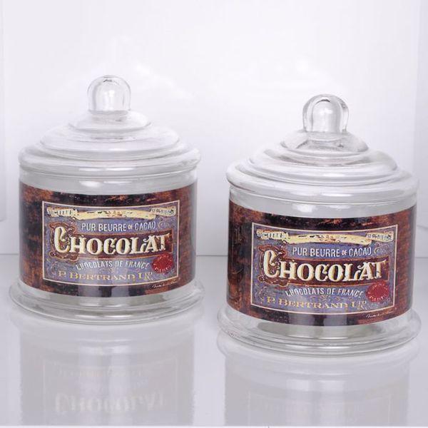 2er Set CHOCOLAT Vorratsglas für Schokolade 14cm