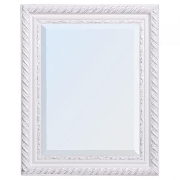 Spiegel STRIPE 50x40cm weiß-silber