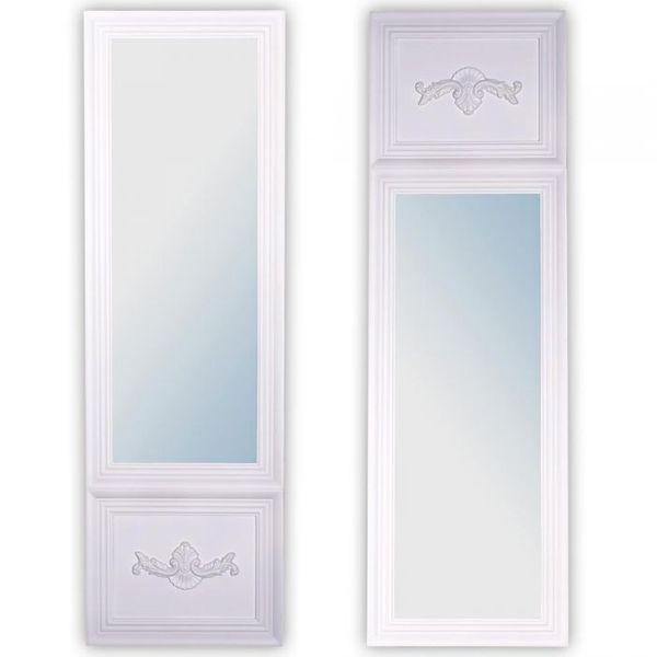 Spiegel IMPRESS Landhaus weiß 160x50cm
