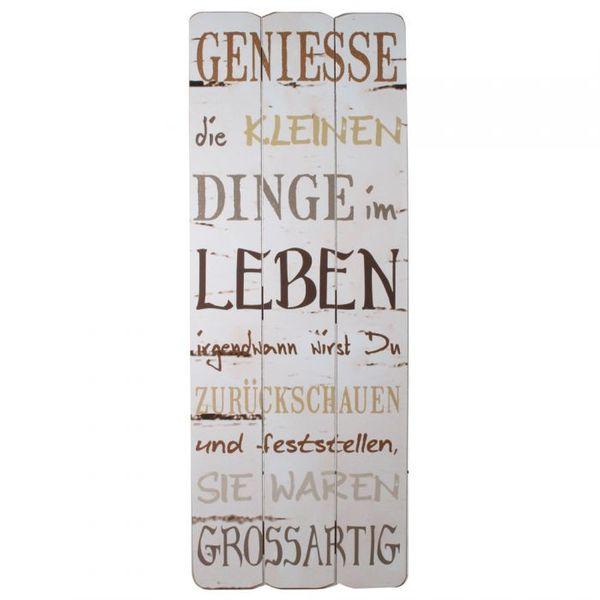Wandbild zum Hängen im Holzschild Design LEBEN 80x30cm