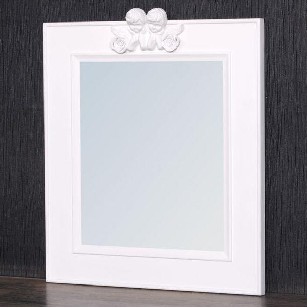 Spiegel ANGELO mit Engel-Ornament pur-weiß 48x40cm – Bild 5