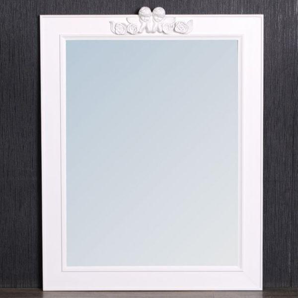 Weißer Spiegel ANGELO 78x60cm Engel-Ornament – Bild 2