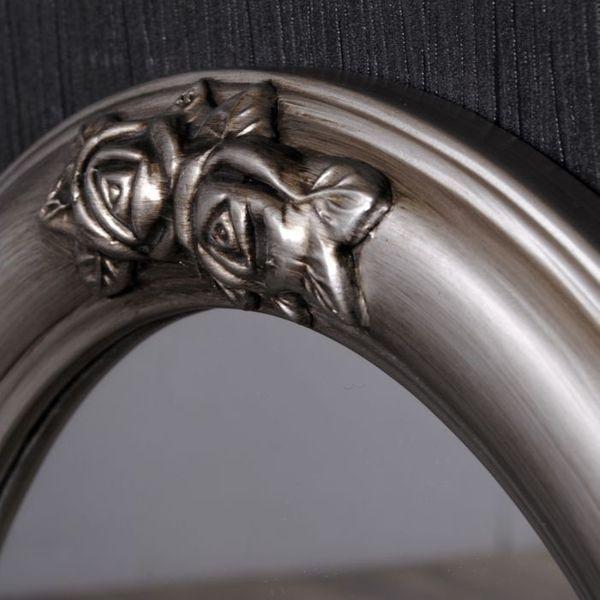 Spiegel TAHANI barock oval silber-antik 50x40cm – Bild 3