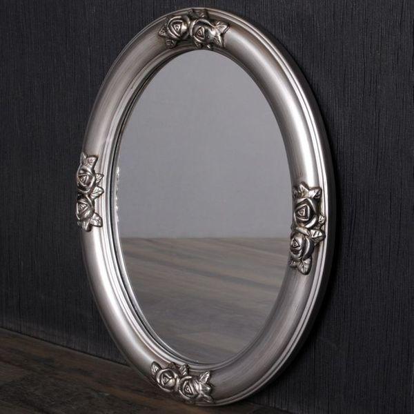 Spiegel TAHANI barock oval silber-antik 50x40cm – Bild 4