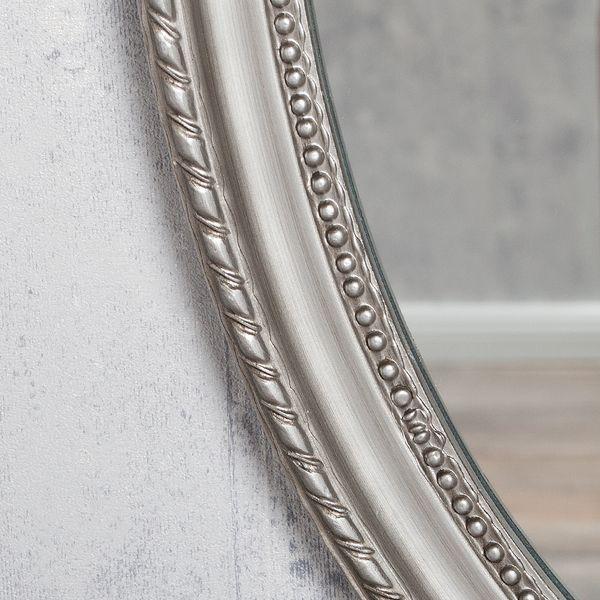 Spiegel NERINA 50x40cm silber-antik oval – Bild 5