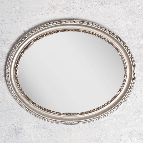 Spiegel NERINA 50x40cm silber-antik oval – Bild 3