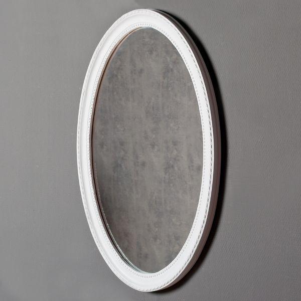 Spiegel NERINA 70x50cm weiß oval – Bild 2