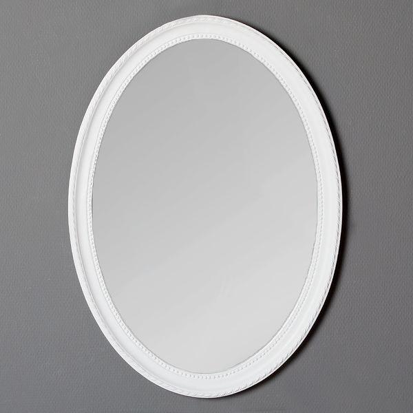 Spiegel NERINA 70x50cm weiß oval