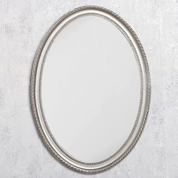 Spiegel NERINA 70x50cm silber-antik oval – Bild 1