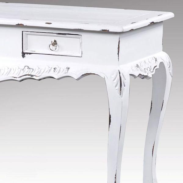Konsole WHITE im Shabby-Chic Stil mit 2 Schubladen – Bild 3