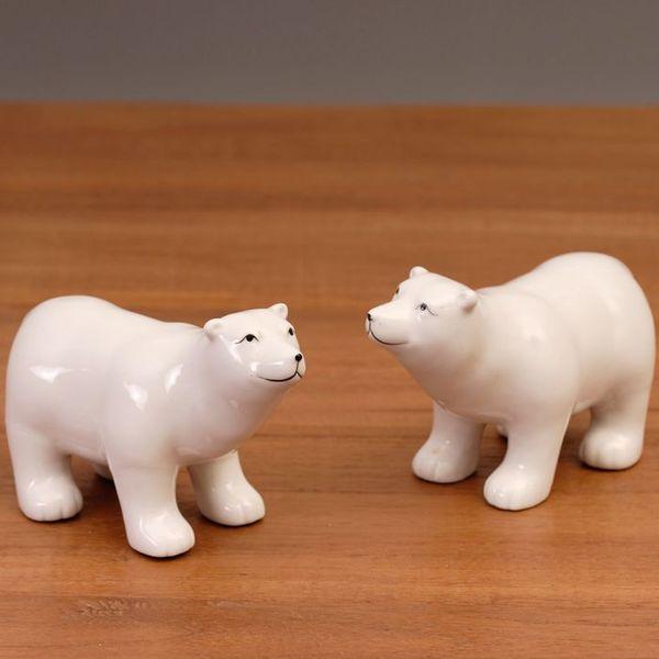 "Eisbären-Figur 2'er set ""KNUT"" aus Porzellan"