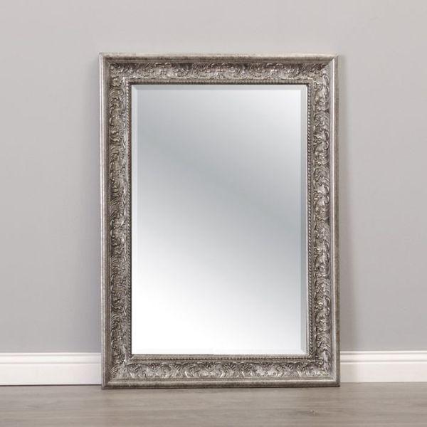 Spiegel FIORA 70x50cm Antik-Silber – Bild 1