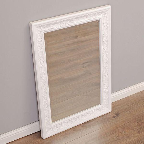 Spiegel FIORA barock weiß-silber 70x50cm – Bild 2