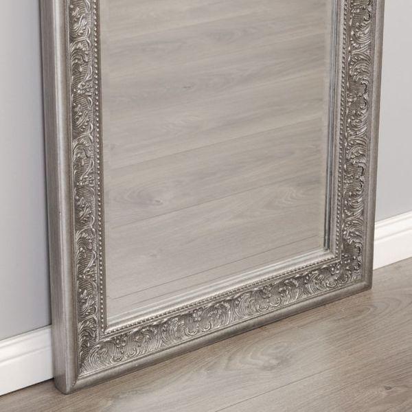 Spiegel FIORA barock antik-silber 150x60cm  – Bild 6