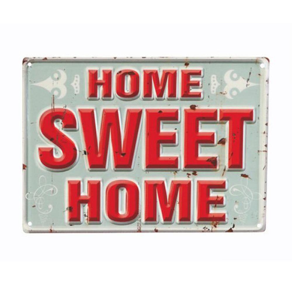Landhaus Metallschild SWEET HOME Vintage Schild