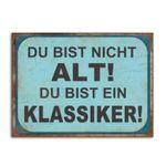 Metallschild / Wandbild zum Hängen EIN KLASSIKER 35x26cm 001