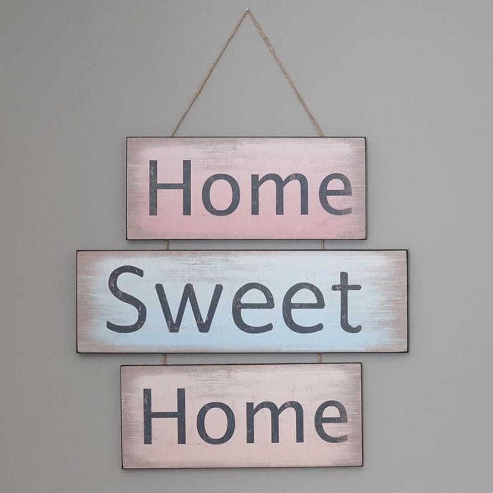 Antik Holzschild HOME SWEET HOME 3-teilig