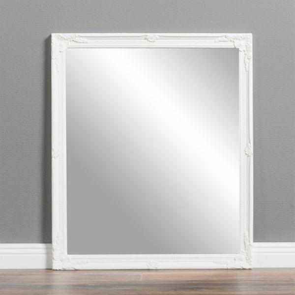 Spiegel BAROCK ca. 57x62cm Antik Weiß – Bild 1