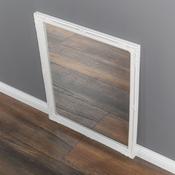 Spiegel BAROCK ca. 57x62cm Antik Weiß – Bild 3
