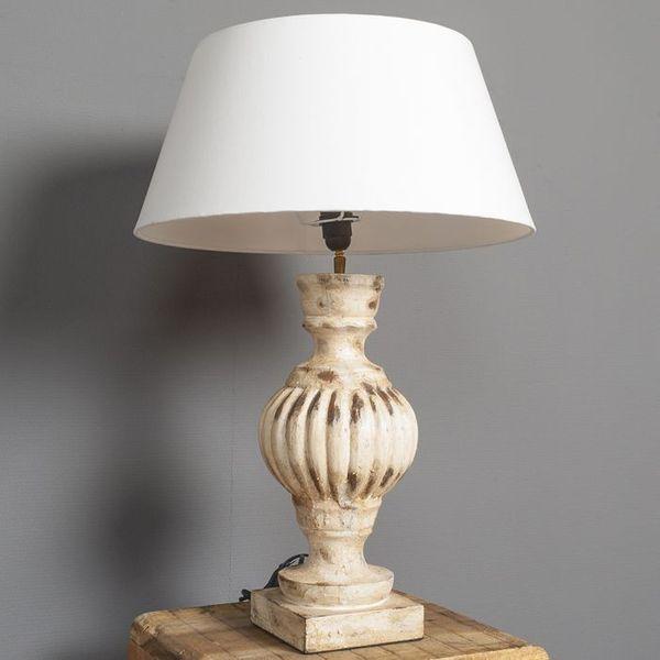 Tischlampe ETHAN im Barock-Stil / Holz / H: 74cm – Bild 3