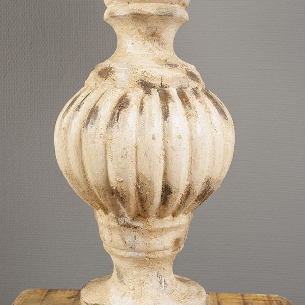 Tischlampe ETHAN im Barock-Stil / Holz / H: 74cm – Bild 4
