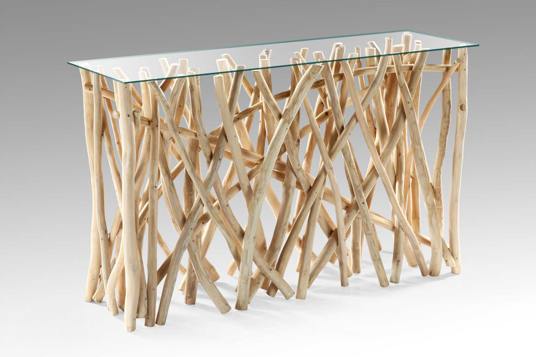 Teak Designer Konsolentisch DRIFT Natur ca. 120x40cm