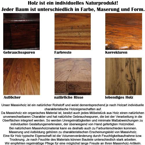 Truhe AJALA Mango Farbe: Walnut Massivholz Holztruhe 115cm – Bild 8