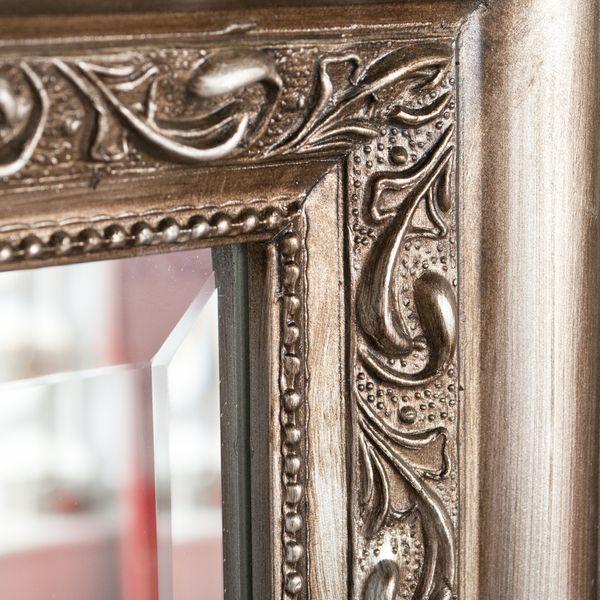 Spiegel ARGENTO barock Silber-Antik 90x70cm – Bild 4
