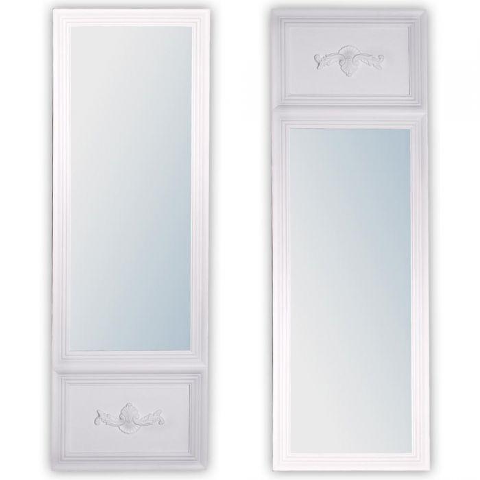 spiegel impress landhaus 180x60cm wei 5668. Black Bedroom Furniture Sets. Home Design Ideas