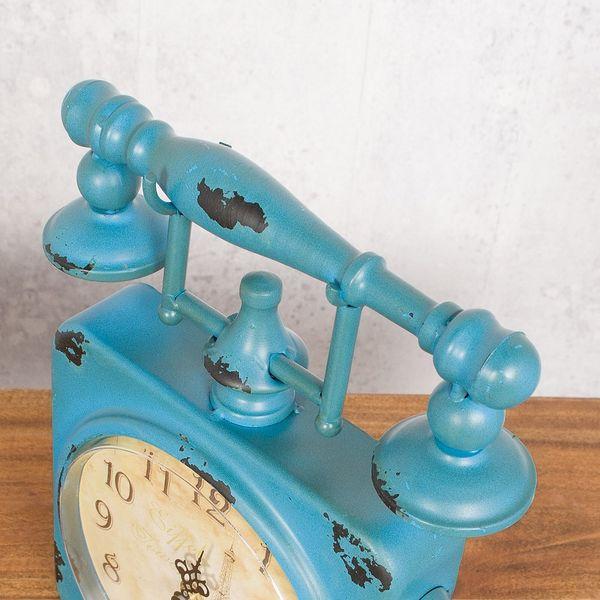 Vintage Tischuhr PHONE aus Metall im Retro-Design – Bild 4
