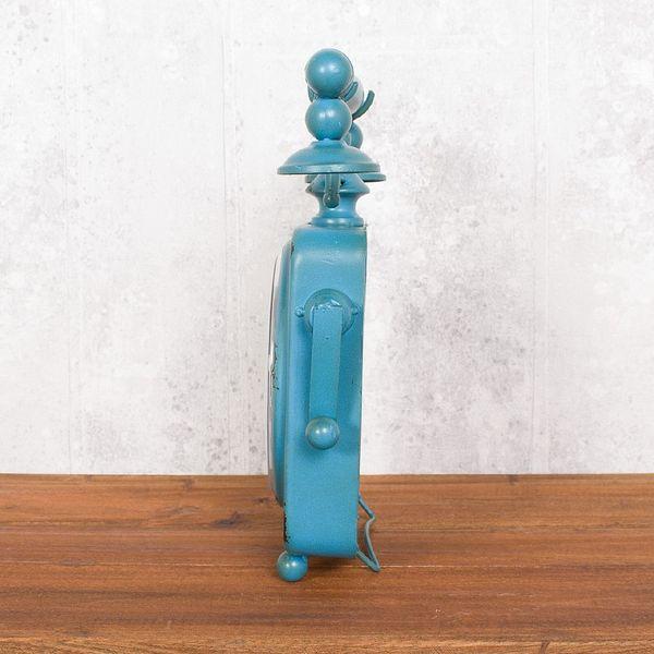 Vintage Tischuhr PHONE aus Metall im Retro-Design – Bild 6