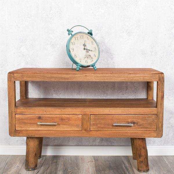 Vintage Tischuhr in Form eines Weckers aus Metall im Retro-Design – Bild 2
