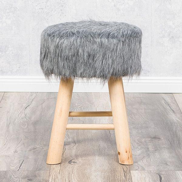 Sitzhocker HENRY grau H:42cm – Bild 1