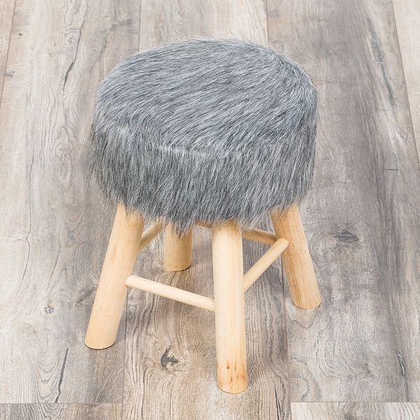 Sitzhocker HENRY grau H:42cm – Bild 7
