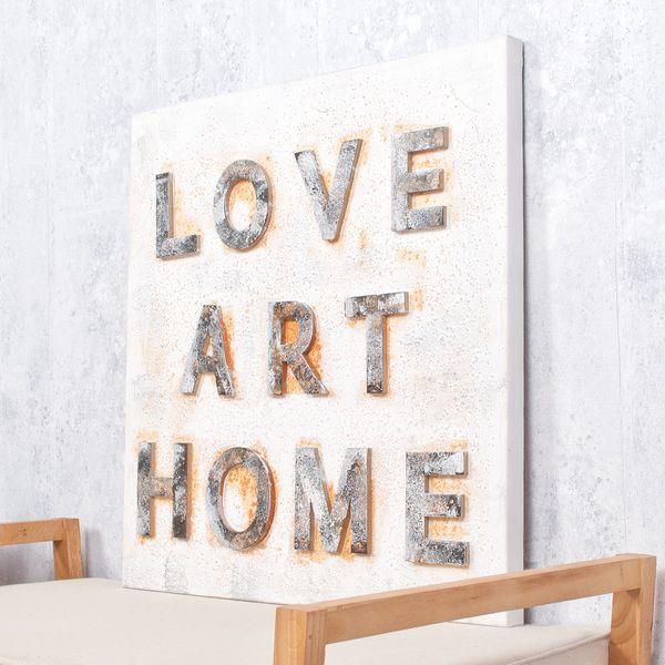 3D Wandbild LOVE-ART-HOME 60x60cm – Bild 1