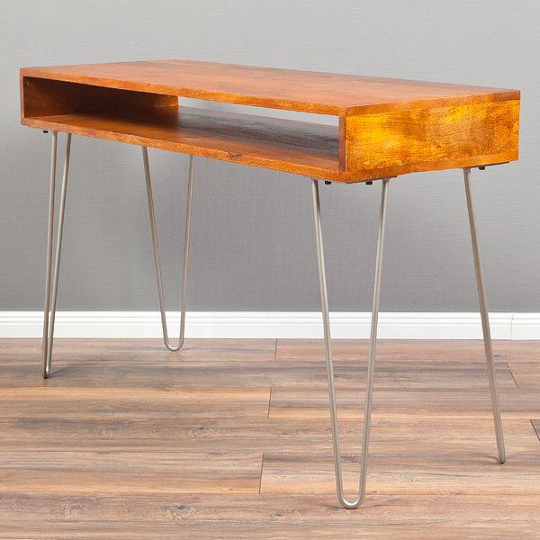 Konsolentisch BOW aus Mangoholz 120cm Stone-M – Bild 1